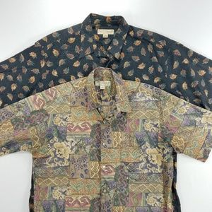 Tori Richard Short Sleeve Hawaiian Floral Shirt